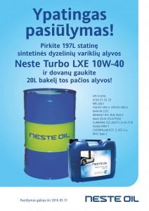 Ypatingas pasiulymas - Neste TURBO LXE 10W-40 197L   dovana 20L